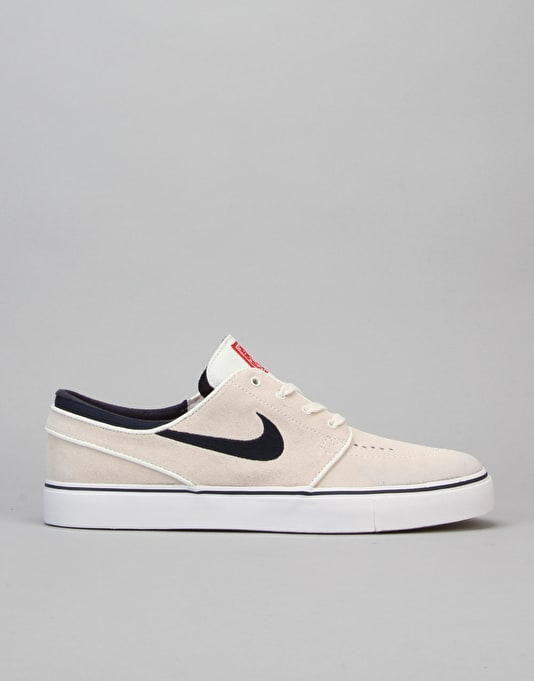 Nike SB Zoom Stefan Janoski Skate Shoes - Summit Wht/Obsdn-Uni Red
