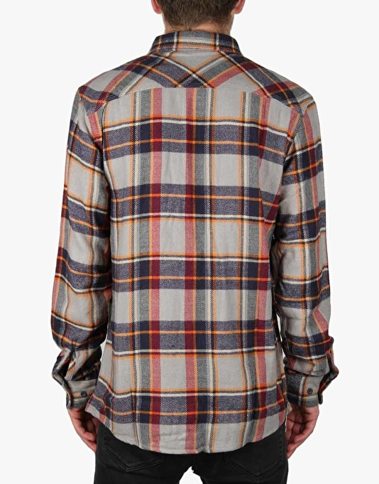 Brixton Bowery L/S Flannel Shirt - Light Blue/Navy