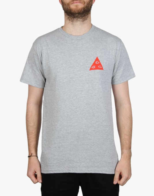 Welcome Talisman Tri- Color T-Shirt - Heather/Coral/White