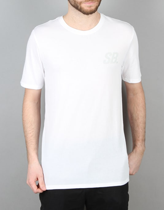Nike SB Tonal T-Shirt - White/White/Birch Heather