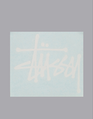 Stüssy Regular Stock Decal - White
