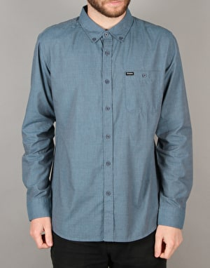 Brixton Central Woven L/S Shirt - Heather Steel