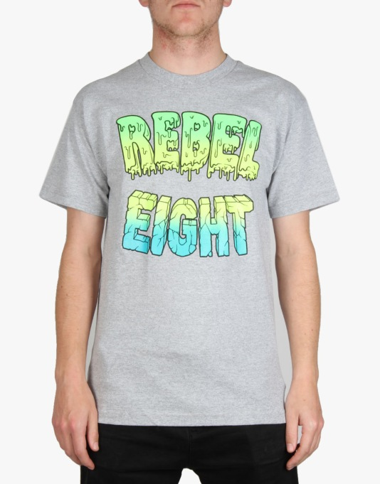 Rebel8 Goo Block T-Shirt - Heather Grey