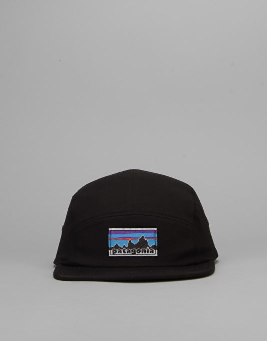 Patagonia Retro Fitz Roy Label Tradesmith 5 Panel Cap - Black