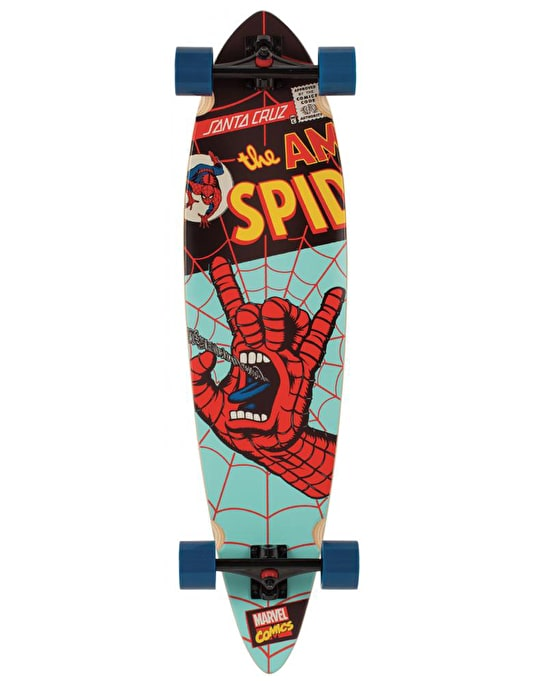 "Santa Cruz x Marvel Comics Spiderman Hand PT Longboard - 39"" x 9.6"""