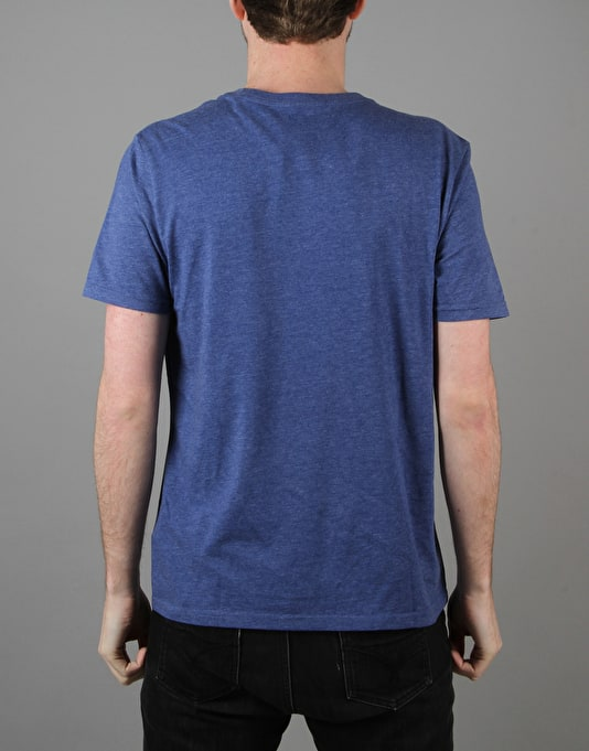 Converse Core Left Chest CP Crew T-Shirt - Roadtrip Blue Heather