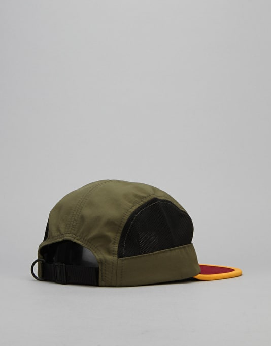 HUF Scout Side Mesh Volley 5 Panel Cap - Olive