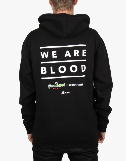 Grizzly x We Are Blood Pullover Hoodie - Black