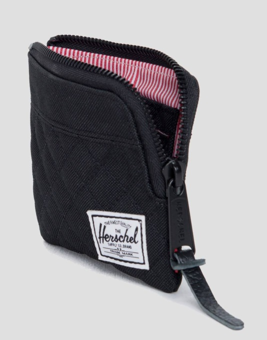 Herschel Supply Co. Quilted Johnny Wallet - Black