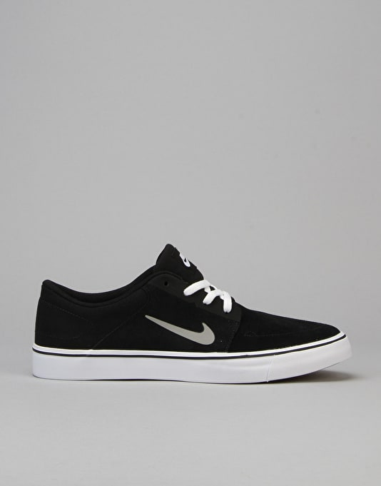 Nike SB Portmore Skate Shoes - Black/Grey/White/Brown