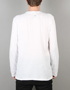 Emerica Skateboard Logo L/S T-Shirt - White