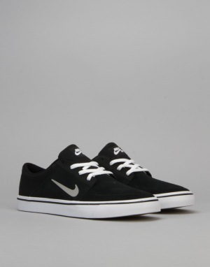 Nike SB Portmore Skate Shoes - Blk/Mdm Grey-White-Gum Light Brown