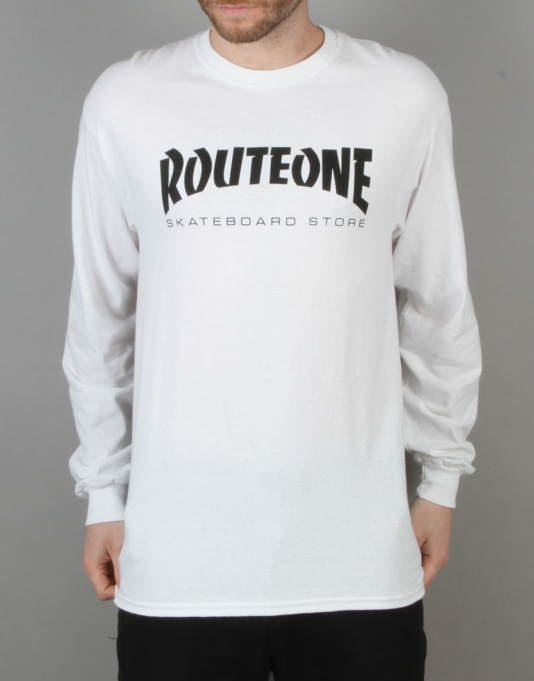 Route One Skate Store LS T-Shirt - White