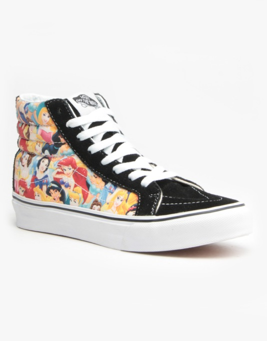 Vans Sk8-Hi Slim Skate Shoes - Disney Princess Multi