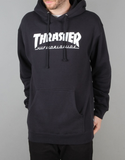 HUF x Thrasher Classic H Pullover Hoodie - Navy