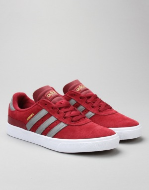 Adidas Busenitz Vulc Skate Shoes - Collegiate Burgundy/Grey/FTWR White