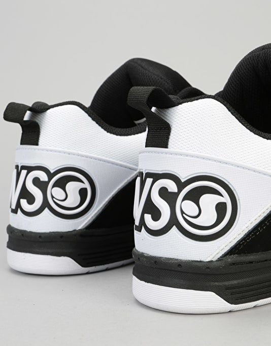 DVS Commanche Skate Shoes - Black/White/Black Leather Nubuck