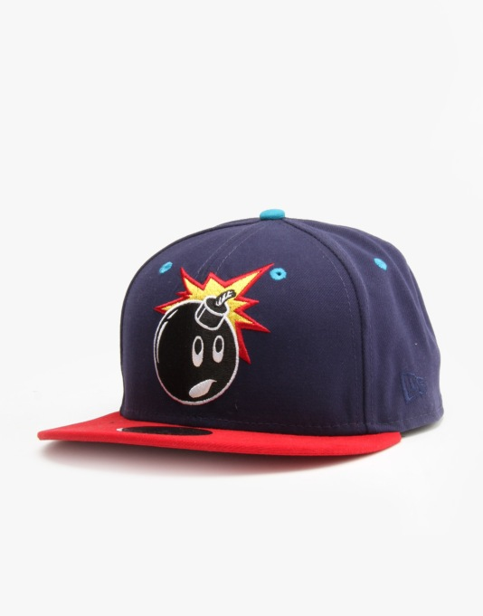 The Hundreds x New Era Adam 59Fifty Fitted Cap - Navy