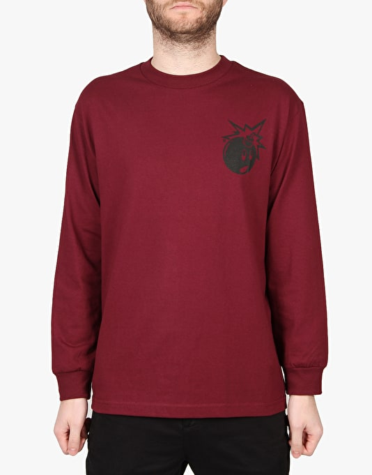 The Hundreds Simple Adam L/S T-Shirt - Burgundy