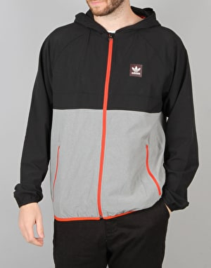 Adidas Aerotech Windbreaker - Black/Heather/Chilli