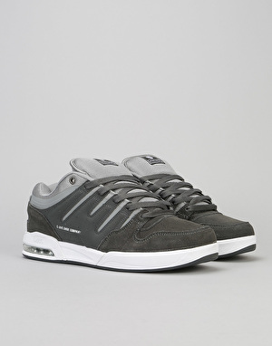 DVS Tycho Skate Shoes - Grey/Grey/White Suede