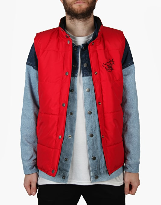 The Hundreds x Back to the Future Preserver Vest - Red/Black