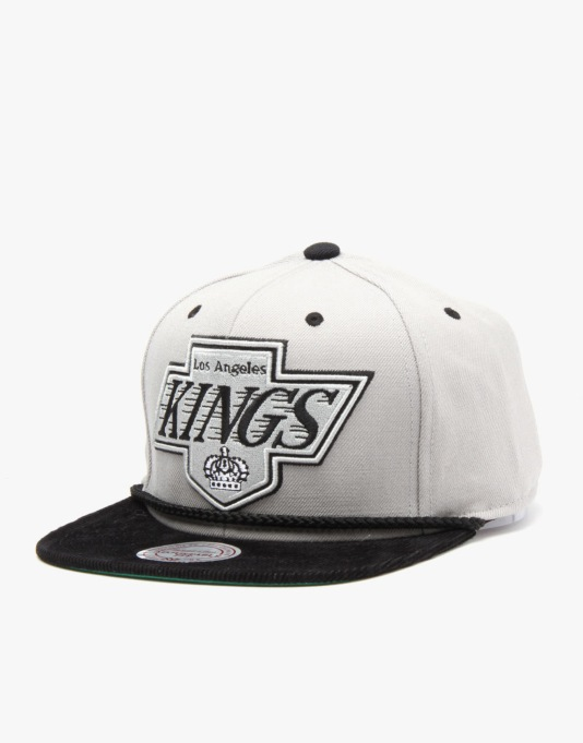 Mitchell & Ness NHL LA Kings Colt Snapback Cap - Grey/Black