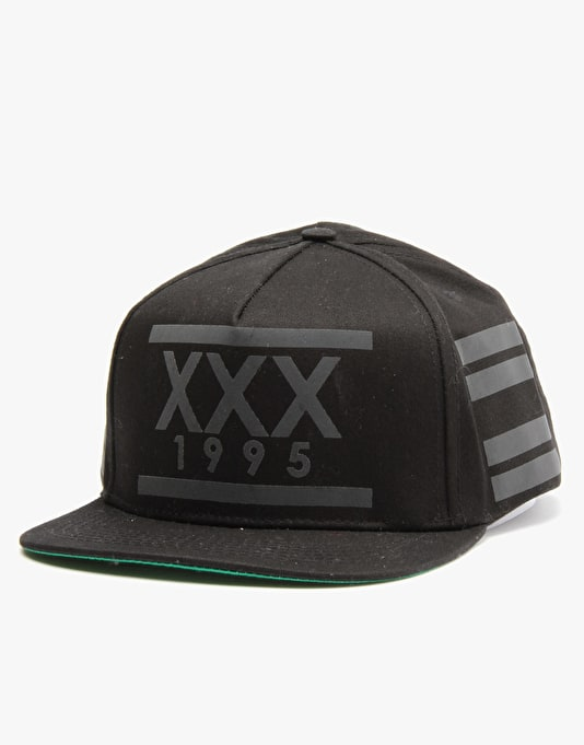 10Deep Triple X Safety Snapback Cap - Black