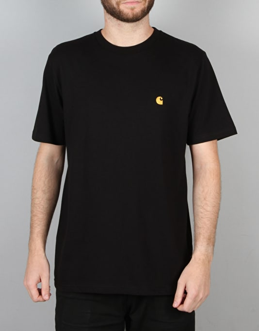 Carhartt S/S Chase T-Shirt - Black/Gold