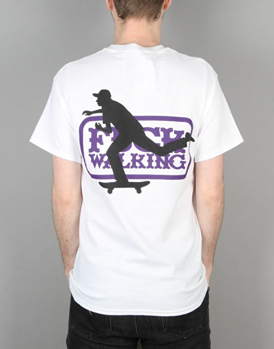 Send Help F Walking T-Shirt- White