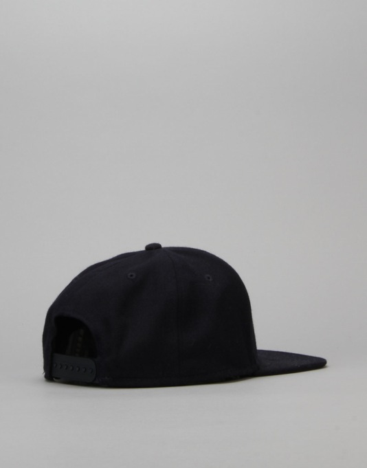 Route One Arch Logo Snapback Cap - Navy