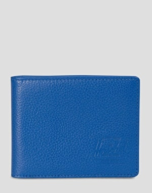 Herschel Supply Co. Hank Leather Coin Wallet - Cobalt Pebbled Leather