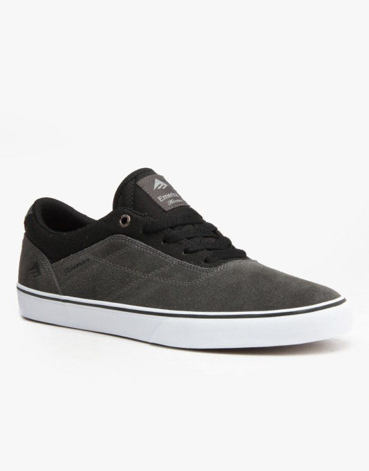 Emerica The Herman G6 Vulc Skate Shoes - Dark Grey/Black