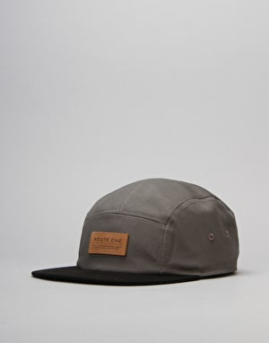 Route One Soft Goods 5 Panel Cap - Charcoal/Black