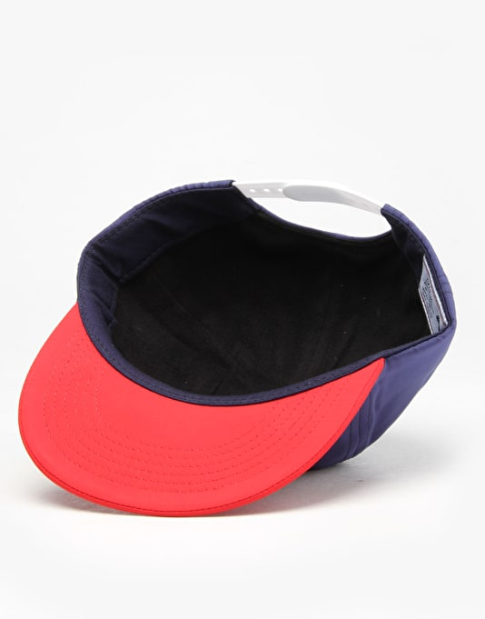Hélas Polo Club 6 Panel Cap - Navy/Red