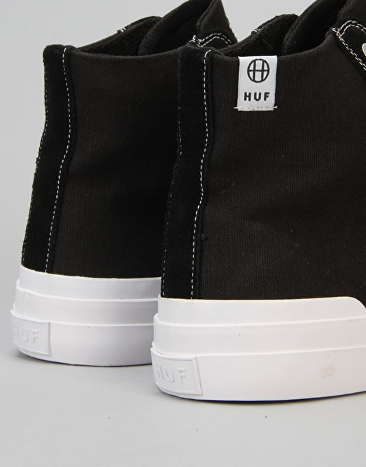 HUF Classic Hi ESS Skate Shoes - Black/White