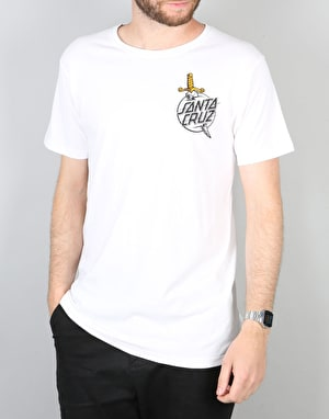 Santa Cruz Flash Hand T-Shirt - White
