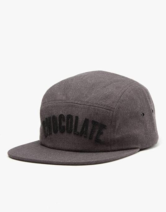 Chocolate League 5 Panel Cap - Charcoal