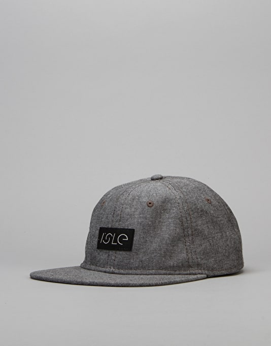Isle Logo 6 Panel Cap - Steel Chambray