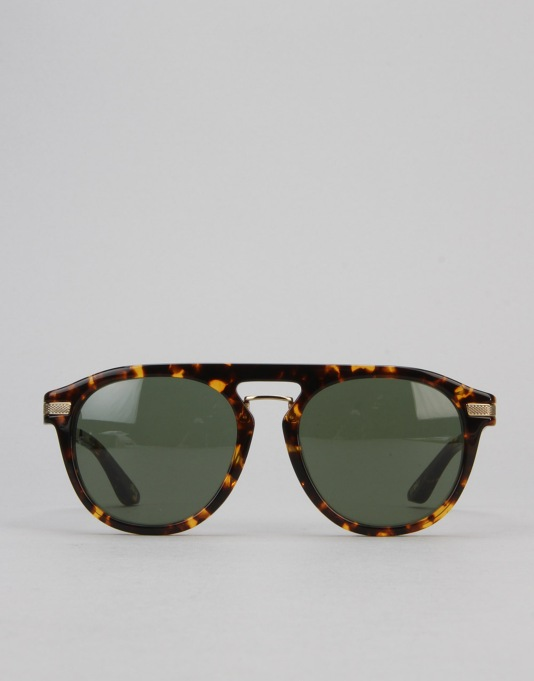 Stüssy Bruno Sunglasses - Tortoise/Green