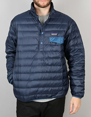 Patagonia Down Snap-T Pullover Jacket - Navy Blue
