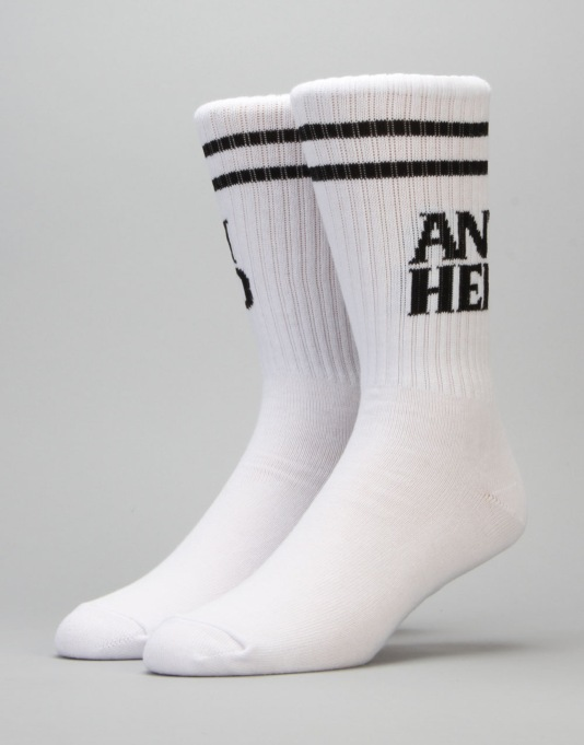Anti Hero Black Hero If Found Socks - White/Black