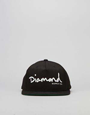 Diamond Supply Co. OG Script Snapback Cap - Black
