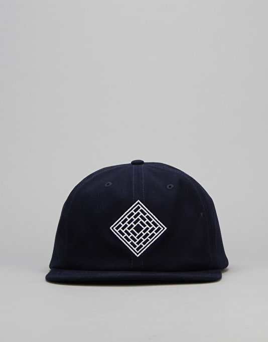 The National Skateboard Co. Unstructured 6 Panel Cap - Navy