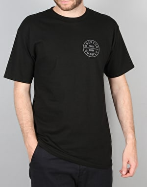 Brixton Oath S/S T-Shirt - Black/Grey