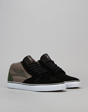 Lakai Fura High Skate Shoes - Black/Walnut Suede