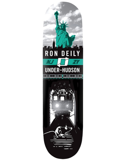Zoo York Deily Under the Hudson Skateboard Deck - 8.25""