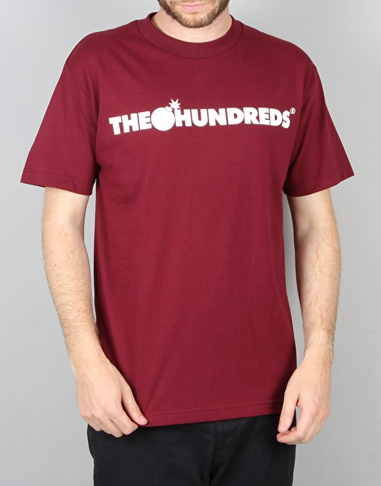 The Hundreds Forever Bar T-Shirt - Burgundy