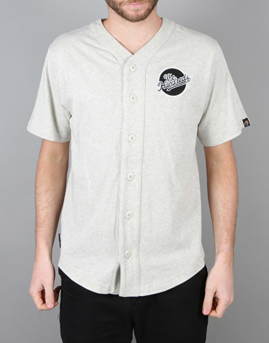 The Hundreds Parkside Baseball Jersey - Ash Heather