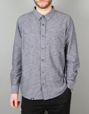 LRG Desmond L/S Chambray Shirt - Navy